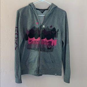 Roxy Gray Zip up hoodie